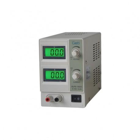 Geti GLPS 1502C 0-15V/ 0-2A - laboratorní zdroj