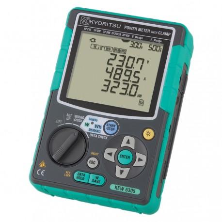 Kyoritsu KEW 6305-01 - digitální 3 fázový měřič výkonu s kleštěmi