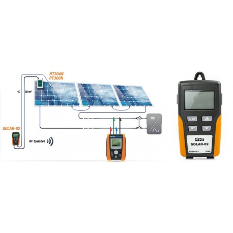 HT Instruments Solar-02 - vzdálená jednotka pro měření intenzity záření / teploty