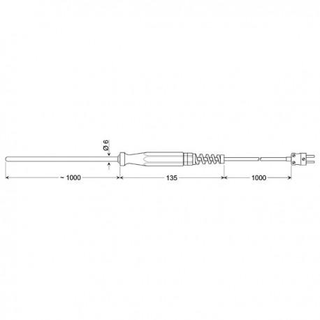 Greisinger GTF 1000 AL - ponorný snímač plášťový