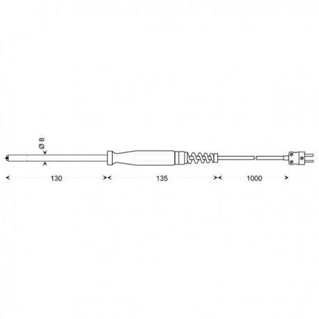 Greisinger GOF 130 - povrchový snímač