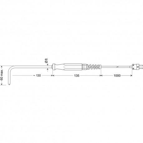 Greisinger GOF 900 HO - povrchový snímač