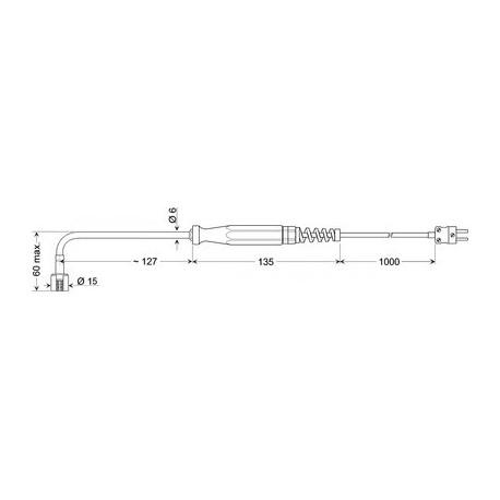 Greisinger GOF 400 HO - povrchový snímač