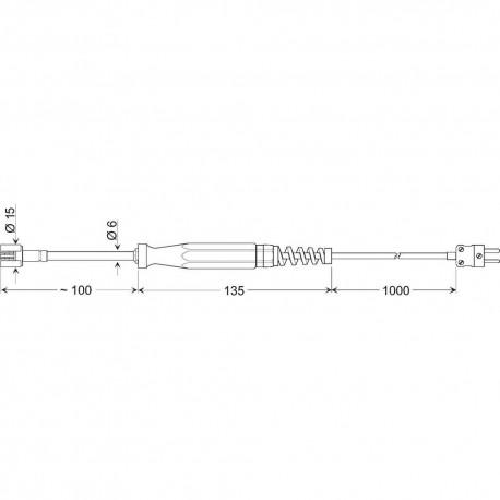 Greisinger GOF 400 VE - povrchový snímač