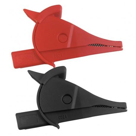 UNI-T C02A - Krokosvorka sada-červená+černá CAT III 1000V/CAT IV 600V