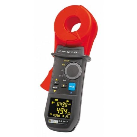 C.A 6417 + ZDARMA CL1 + Bluetooth + Dataview - klešťový měřič zemních odporů