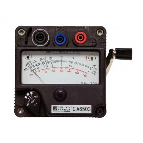 C.A 6503 - Analogový tester izolačních odporů s ručním induktorem