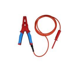 Metrel A1639 BLK 2M5 - HV testovací klip s HV kabelem a zástrčkou, 2,5 m