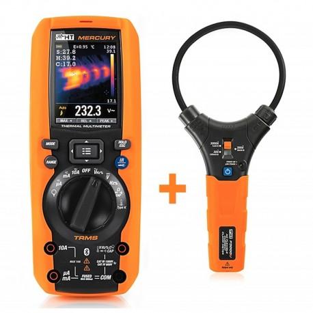 HT Instruments MERCURY + ZDARMA Flexi kleště F3000 - multimetr s termokamerou
