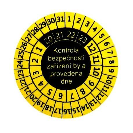 P9081 - štítky pro označování kontrol svářeček (10 ks)