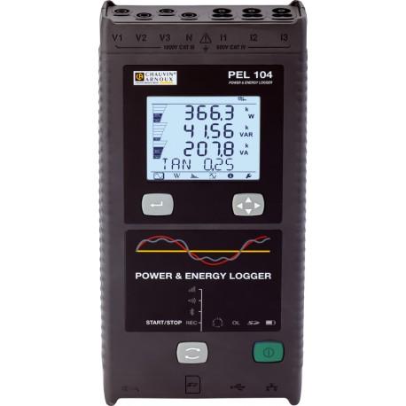 C.A PEL 104 + MA194-350 + DataView + Adaptér napájení + Magnetické svorky - Analyzátor sítě třífázový